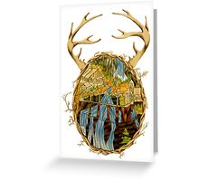 Stained Glass Rivendell Greeting Card