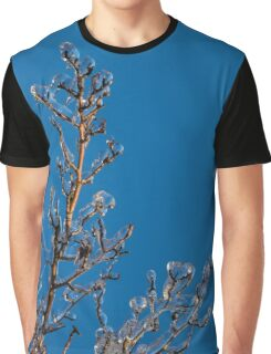 Mother Nature's Christmas Decorations - Gleaming Icy Baubles in Blue Graphic T-Shirt