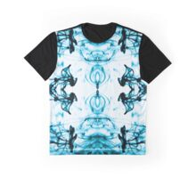 Mirrored Water Black and Blue Graphic T-Shirt