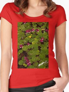 Vivid Fuchsia Waterlilies - a Mediterranean Delight from Barcelona Women's Fitted Scoop T-Shirt