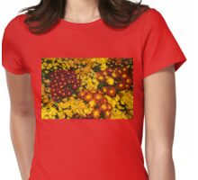 Abundance of Yellows, Reds and Oranges Womens Fitted T-Shirt