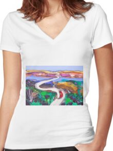 Half way home Women's Fitted V-Neck T-Shirt