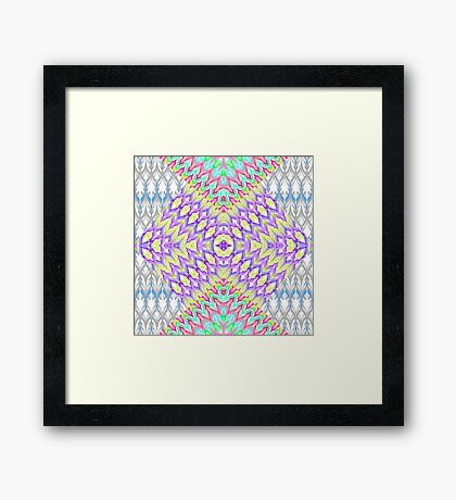Multi-colored zigzag pattern . Framed Print
