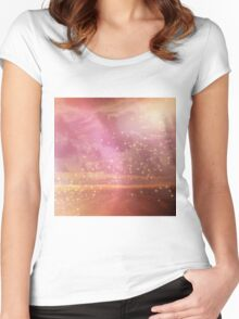 Ocean sunset glow Women's Fitted Scoop T-Shirt