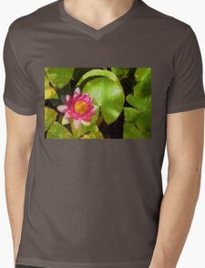 Pretty in Pink - a Waterlily Impression Mens V-Neck T-Shirt