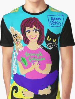 Yoga Ferny & cat Vito Rico Graphic T-Shirt