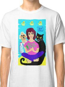 Yoga Ferny & cat Vito Rico Classic T-Shirt