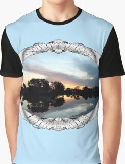 Tropical Sky ~ Lake Reflection Graphic T-Shirt