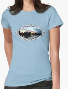 Tropical Sky ~ Lake Reflection Womens Fitted T-Shirt