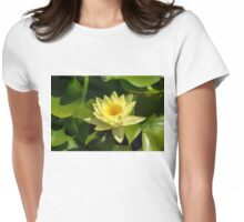 Soft Sunny Yellow - A Waterlily Impression Womens Fitted T-Shirt
