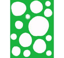Green and white dots  Photographic Print
