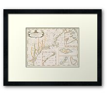 Historic Map of North america Framed Print