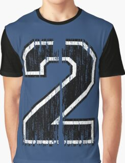 Bold Distressed Sports Number 2 Graphic T-Shirt