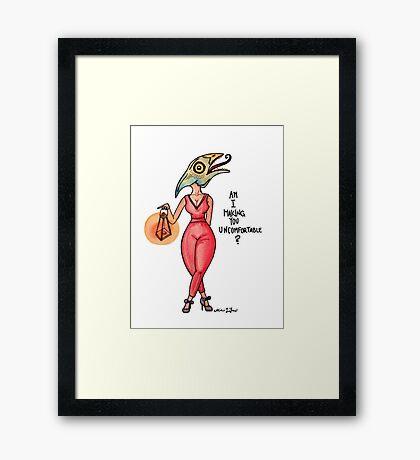 MonsterGirl Reptile Framed Print