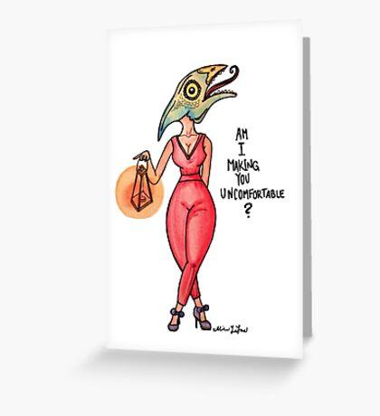 MonsterGirl Reptile Greeting Card