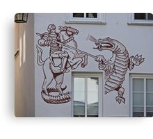 St George and the Dragon, Miltenberg, Germany Canvas Print