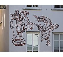 St George and the Dragon, Miltenberg, Germany Photographic Print