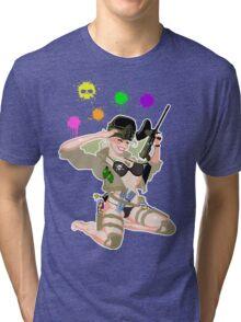 Paintball PinUp Tri-blend T-Shirt