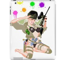 Paintball PinUp iPad Case/Skin