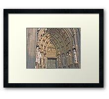Entrance, Cologne Cathedral, Germany Framed Print