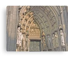 Entrance, Cologne Cathedral, Germany Metal Print