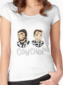 Cow Chop Women's Fitted Scoop T-Shirt