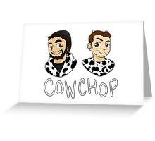 Cow Chop Greeting Card