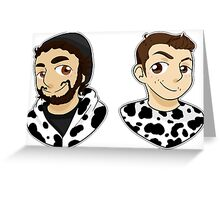 Cow Chop (Without Lettering) Greeting Card