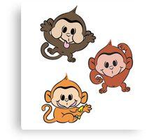 Silly Monkeys Canvas Print
