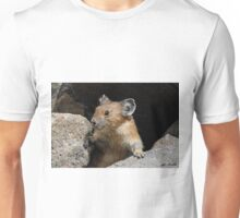 Pika Looking out from its Burrow Unisex T-Shirt
