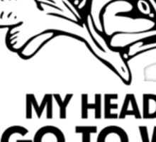 Says Go Fishing Sticker