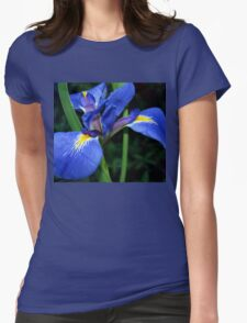 Blue flag beauty Womens Fitted T-Shirt