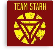 team stark t shirt Canvas Print