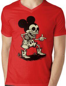 Skull mouse Mens V-Neck T-Shirt