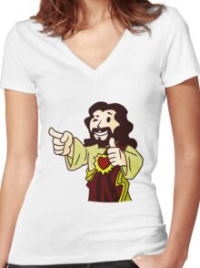 Body of Christ Women's Fitted V-Neck T-Shirt
