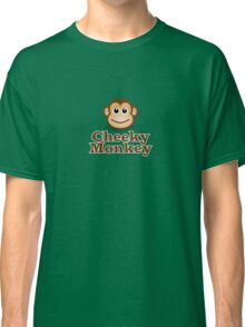 Cheeky Monkey - Funny Toon Face Sticker Classic T-Shirt