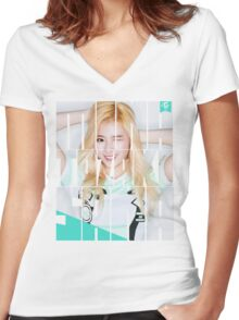 TWICE SANA 'Cheer Up' Women's Fitted V-Neck T-Shirt