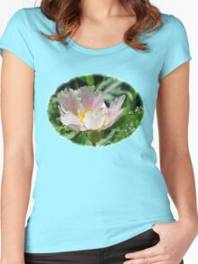 A Single Form Peony Called Horizon Women's Fitted Scoop T-Shirt