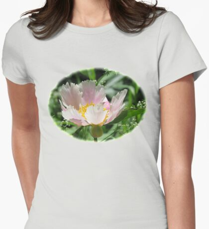 A Single Form Peony Called Horizon Womens Fitted T-Shirt