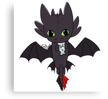 Toothless chibi Canvas Print