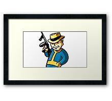 Video Game Gangster Framed Print