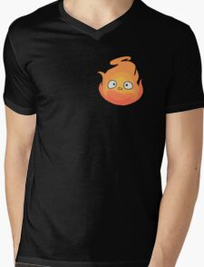 Calcifer Mens V-Neck T-Shirt