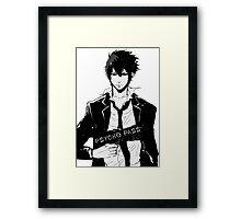 Psycho Pass Shinya Kogami black Framed Print