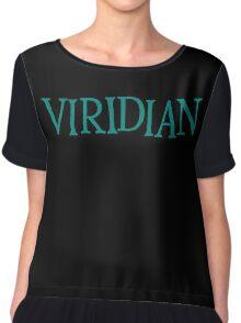Viridian Chiffon Top