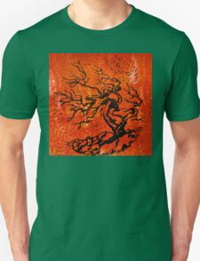 Old and Ancient Tree - Orange Red  Unisex T-Shirt
