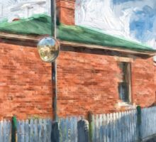 Red Brick House in Hobart Sticker
