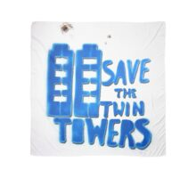 Blue Towers - Square  Scarf