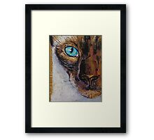 Siamese Cat Painting Framed Print
