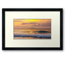 Puerto Rican Sunset and Waves Framed Print