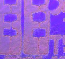 Purple Towers - Square  Sticker